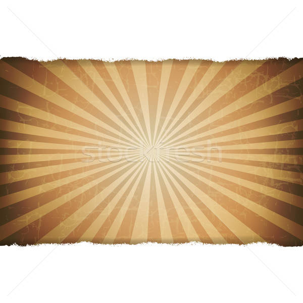 Rip White Paper With Sunburst Old Background Stock photo © barbaliss