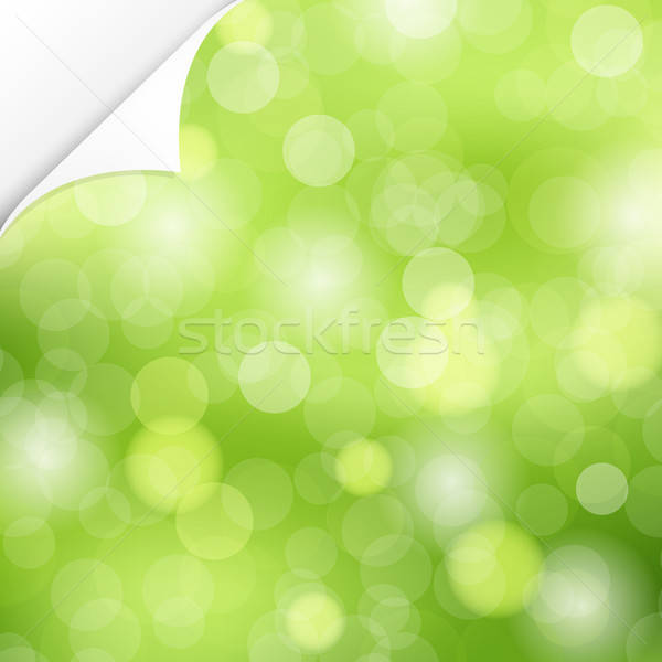 Nature coin vecteur printemps résumé design Photo stock © barbaliss