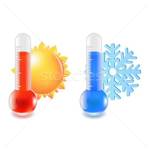 Thermometer Hot And Cold Temperature Stock photo © barbaliss