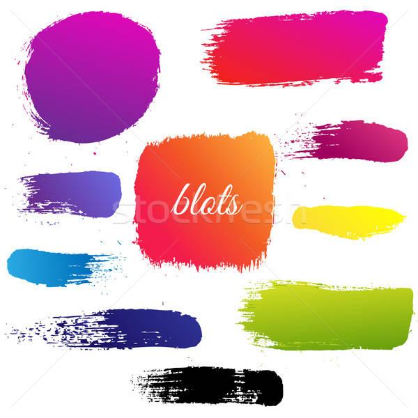 Color Blots Set Stock photo © barbaliss