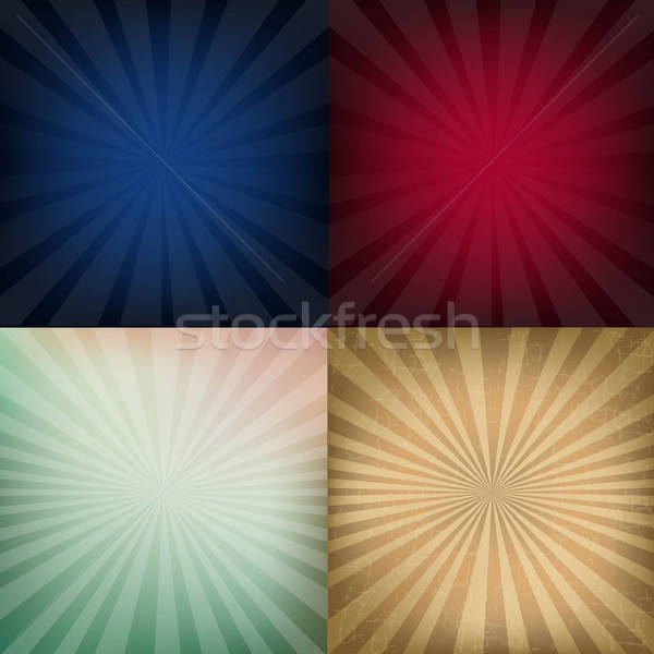 Grunge Vintage Sunburst Backgrounds Stock photo © barbaliss