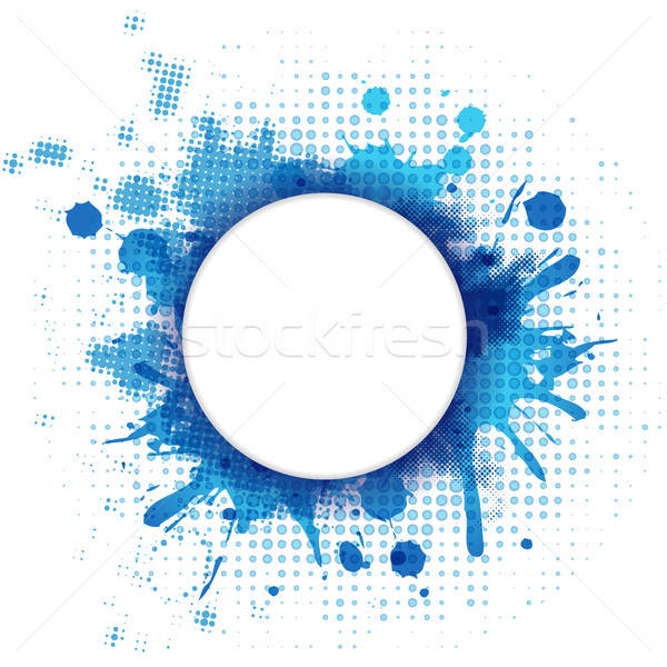 Abstract Blue Background With Blob And Bubble Stock photo © barbaliss