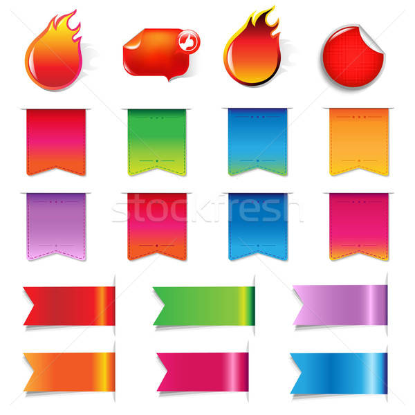 большой продажи красочный Этикетки набор цвета Сток-фото © barbaliss