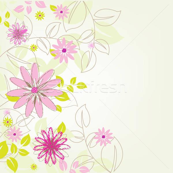 Fiore abstract texture design bellezza retro Foto d'archivio © barbaliss