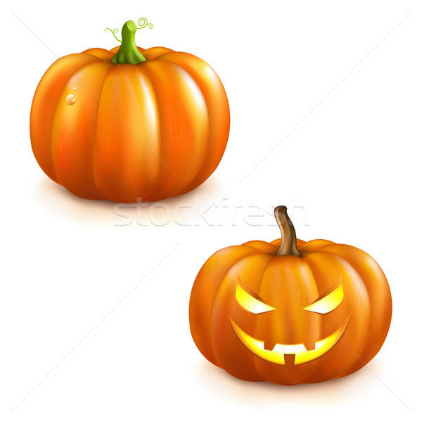 Pumpkin Set For Halloween Stock photo © barbaliss