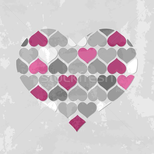 Abstrato corações papel textura casamento coração Foto stock © barbaliss