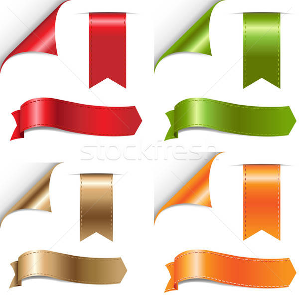 Color Ribbons Set Stock photo © barbaliss