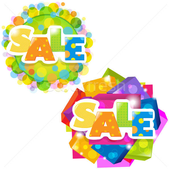 Bright Sale Posters Set Stock photo © barbaliss