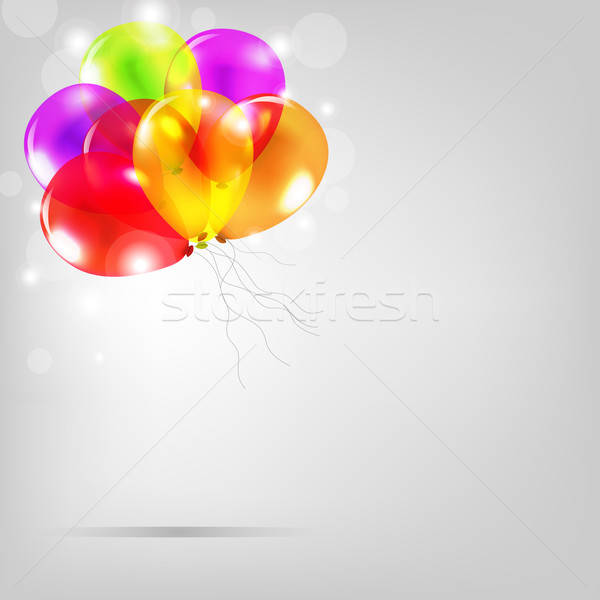 Birthday Card With Colorful Balloons Stock photo © barbaliss
