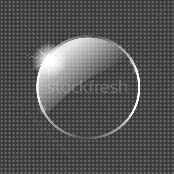 Vidro bola estrela fundo metal arte Foto stock © barbaliss