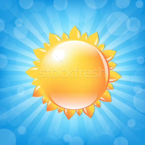 Sonne bokeh Natur sunrise Sterne Energie Stock foto © barbaliss