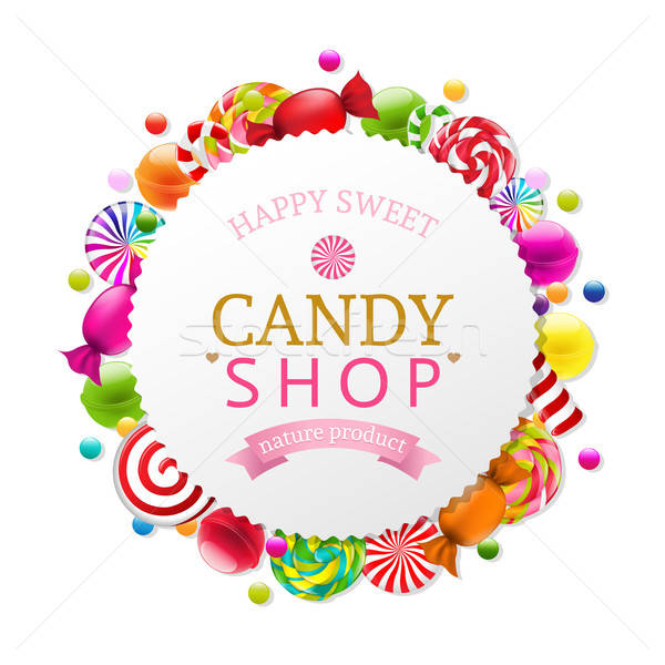 Candy Poster Stock photo © barbaliss