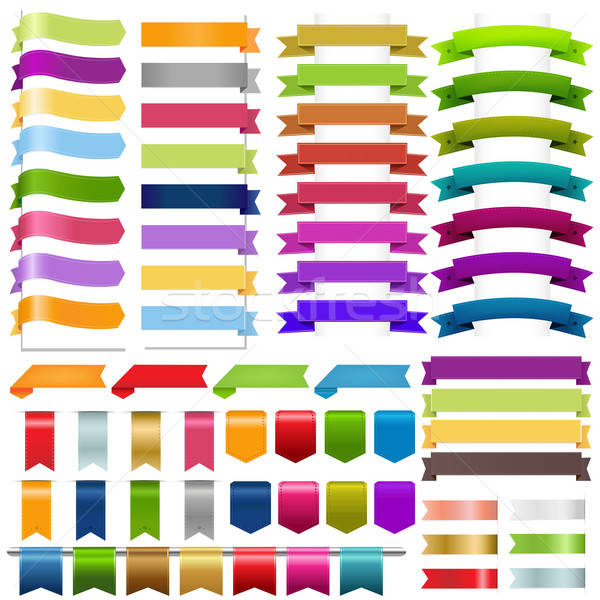 Stock photo: Ribbons Big Set