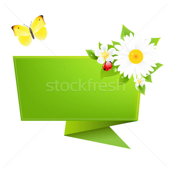 Сток-фото: оригами · бабочка · изолированный · белый · цветок · аннотация