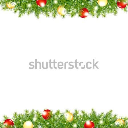 Xmas And Happy New Year Border Stock photo © barbaliss