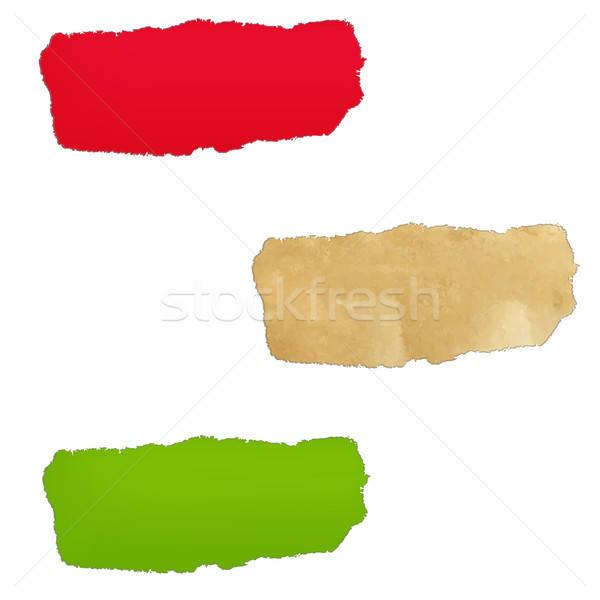 Couleur papier trou isolé blanche Photo stock © barbaliss