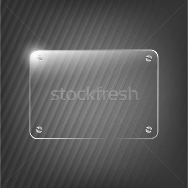 Szkła struktura czarny ściany technologii sztuki Zdjęcia stock © barbaliss