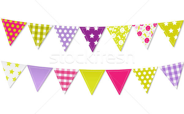 Triangle Bunting Flags Stock photo © barbaliss