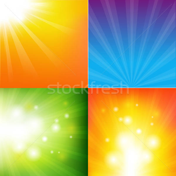Stock photo: Abstract Color Sunburst Background