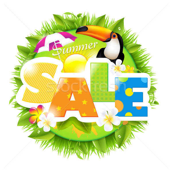 Summer Sale Template Stock photo © barbaliss