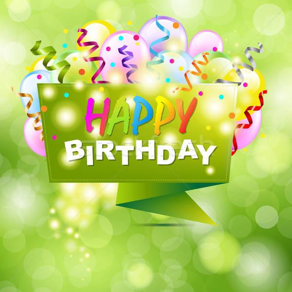 Feliz cumpleaños origami bokeh fiesta feliz cumpleanos Foto stock © barbaliss