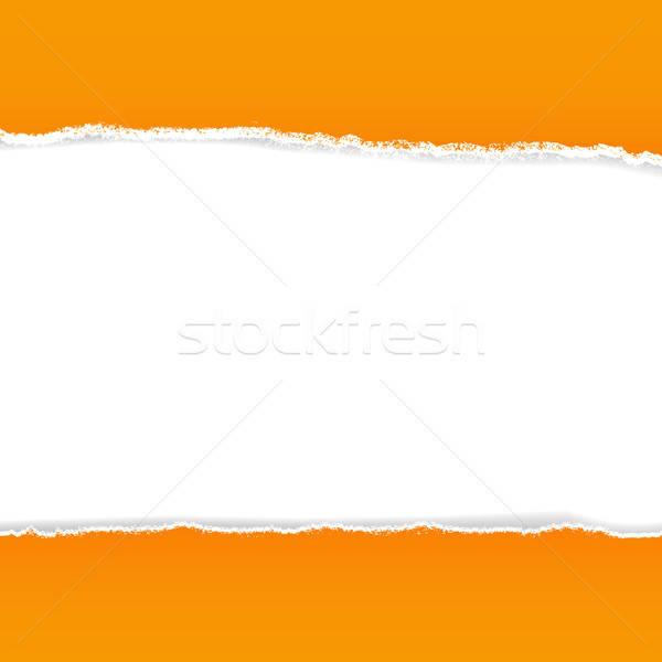 Orange Rip Paper Stock photo © barbaliss