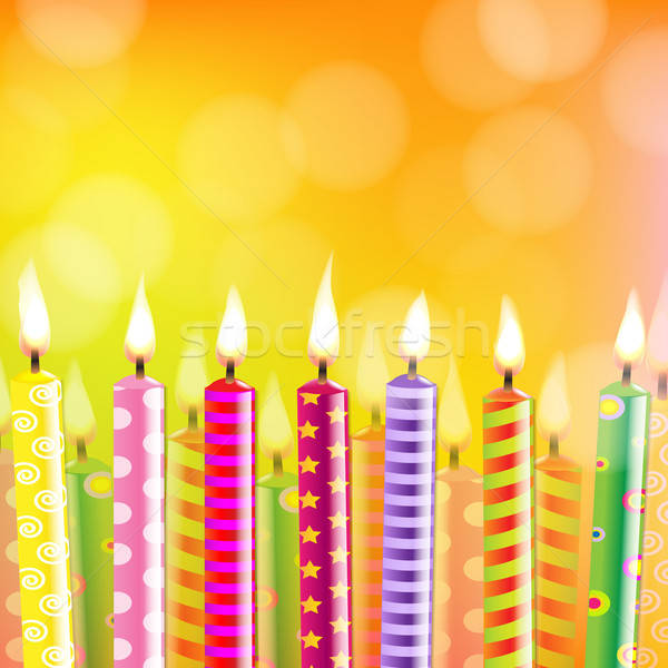 Birthday Card With Candle Stock photo © barbaliss