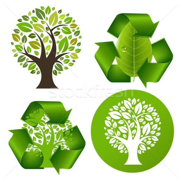 Eco Trees Set Stock photo © barbaliss