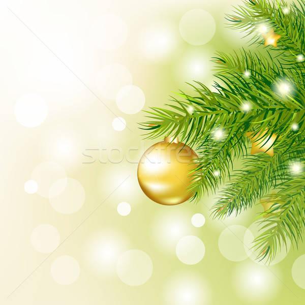 Año nuevo tarjeta árbol naturaleza fondo invierno Foto stock © barbaliss