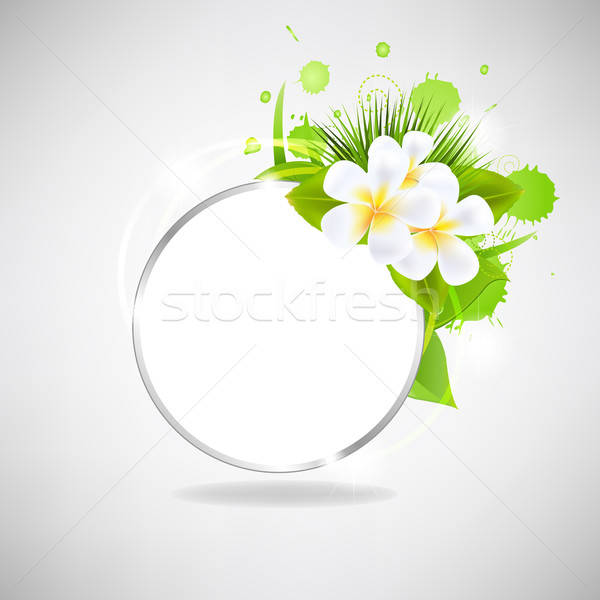 Eco Glass Speech Bubble With Flowers Stock photo © barbaliss