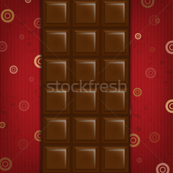 Abstract Background With Chocolate Bar Stock photo © barbaliss