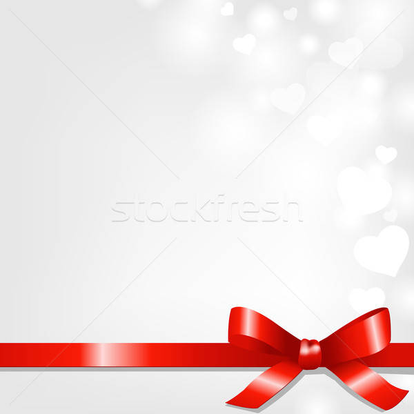 Backgrounds With Red Ribbon And Hearts Stock photo © barbaliss