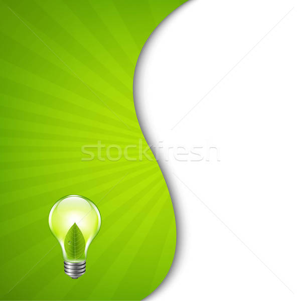 Green Burst Poster With Bulb Stock photo © barbaliss