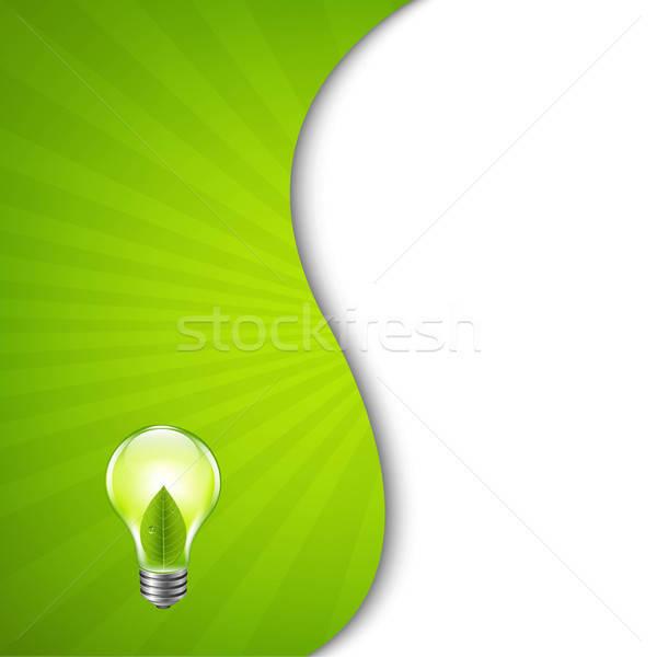 Grünen Burst Plakat Glühbirne Gradienten Mesh Stock foto © barbaliss