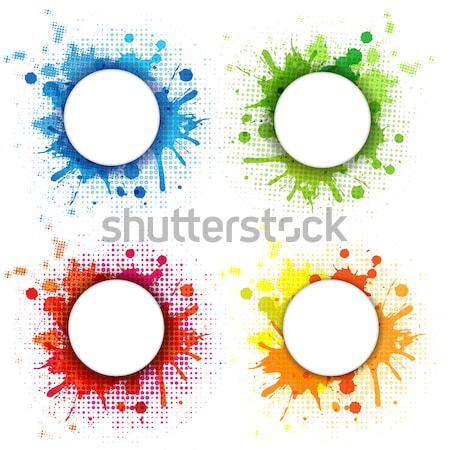 Abstract bubble ingesteld geïsoleerd witte achtergrond Stockfoto © barbaliss