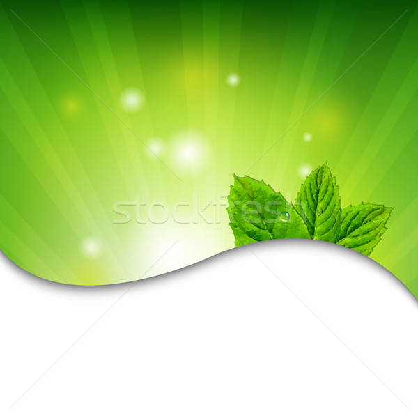 Green Wall With Green Leaves Stock photo © barbaliss