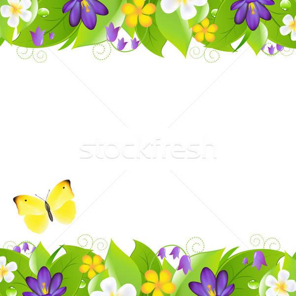 Motyl streszczenie liści ogród Zdjęcia stock © barbaliss