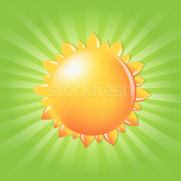 Sun With Sunburst And Rays Stock photo © barbaliss