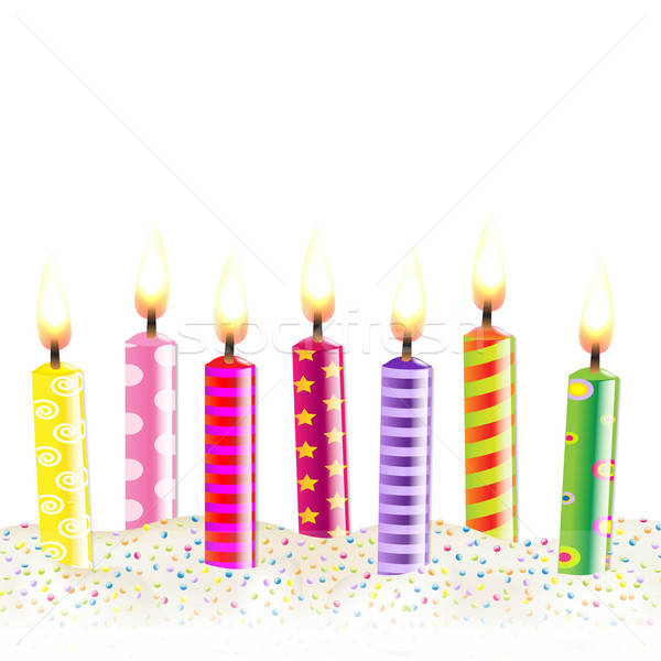 Colorful Candles Stock photo © barbaliss