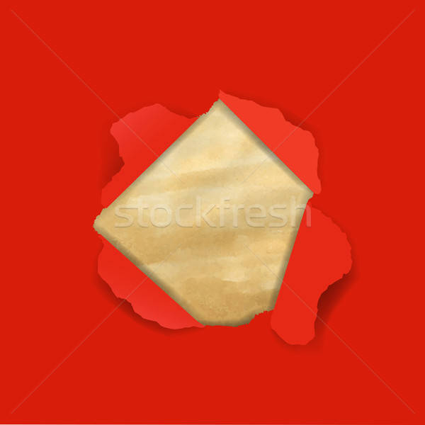 Red Torn With Old Paper Stock photo © barbaliss