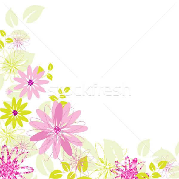 Fiore abstract isolato bianco albero primavera Foto d'archivio © barbaliss