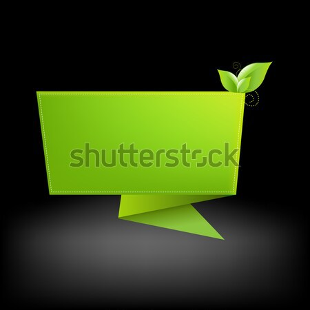 Origami And Leaf Stock photo © barbaliss