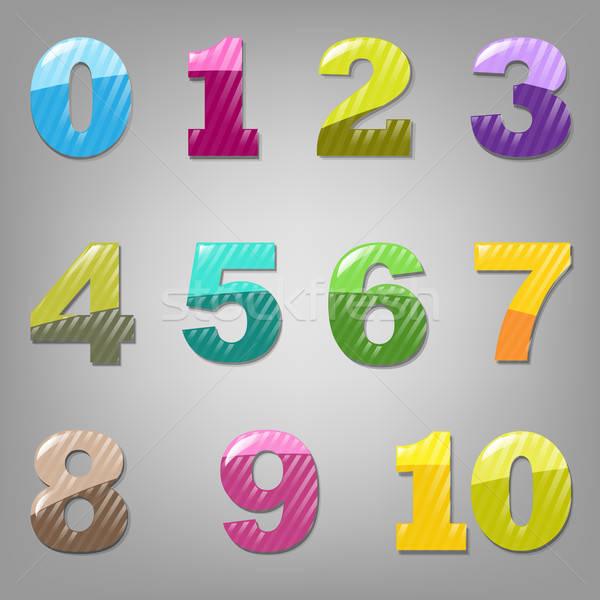 Cartoon Numbers Set Stock photo © barbaliss
