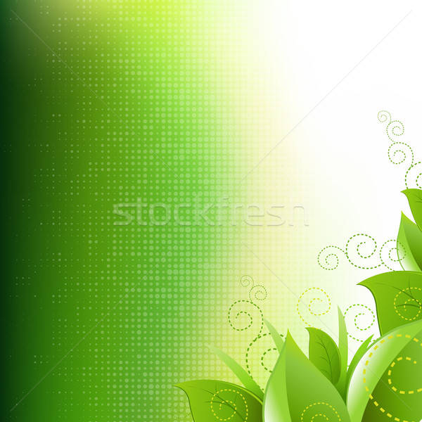 Green Background With Leafs And Grass Stock photo © barbaliss