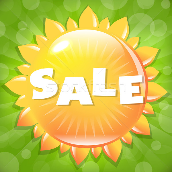 Summer And Spring Sale Poster Stock photo © barbaliss