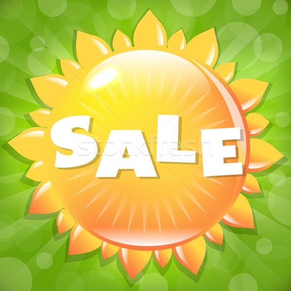 Zomer voorjaar verkoop poster ontwerp oranje Stockfoto © barbaliss