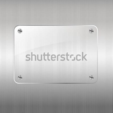 Metal szkła ramki gradient działalności Zdjęcia stock © barbaliss