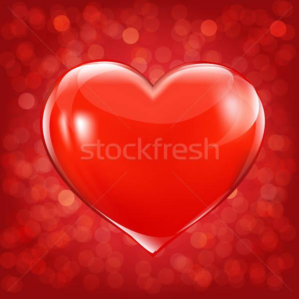 Foto stock: Dia · dos · namorados · cartão · coração · gradiente · projeto