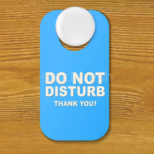 Do Not Disturb Blue Sign Stock photo © barbaliss