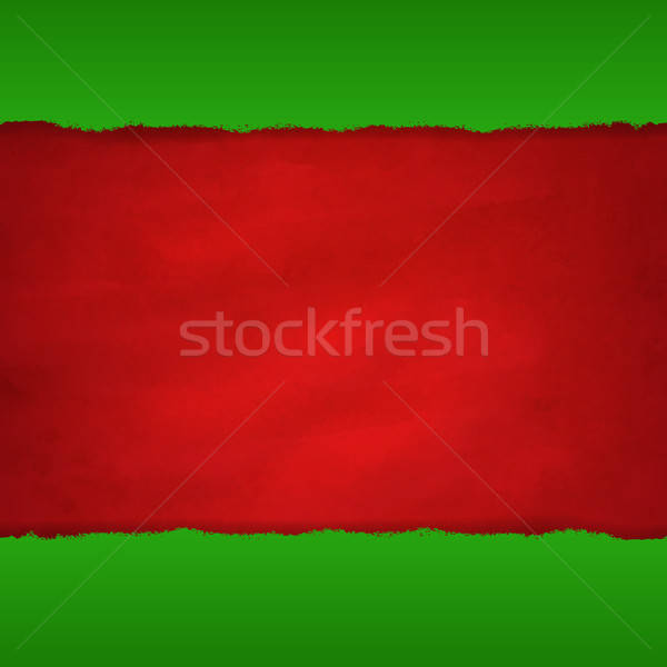 Rip Green Paper And Retro Red Background Stock photo © barbaliss